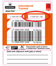 royal mail tracking International Tracked - Post Office® label