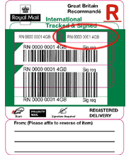 royal mail tracking International Tracked & Signed - Post Office® label