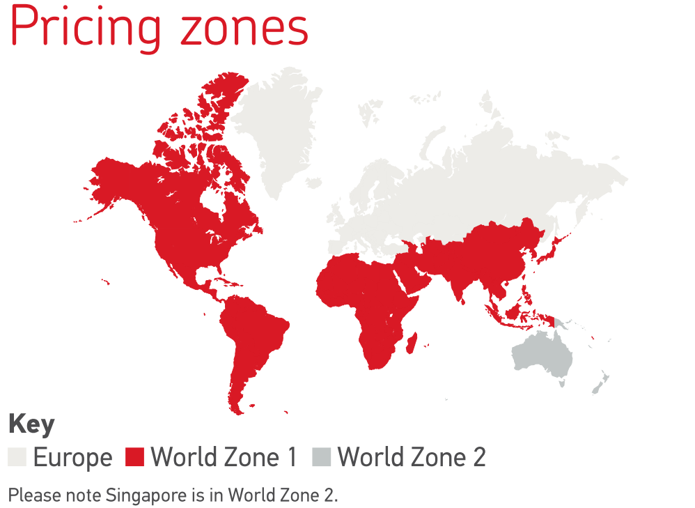 Royal Mail Postage Rates - Pricing zones